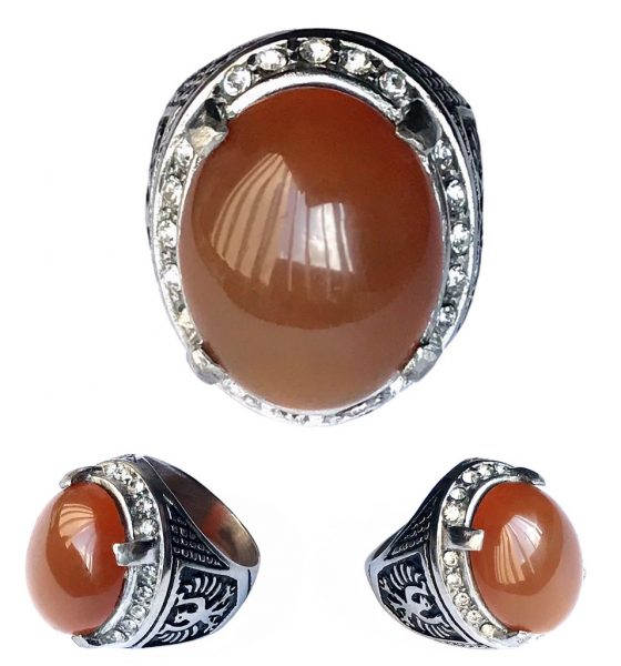 Carnelian Agate Aqeeq Ring blessed for overcoming Obstacles to Career Fulfillment