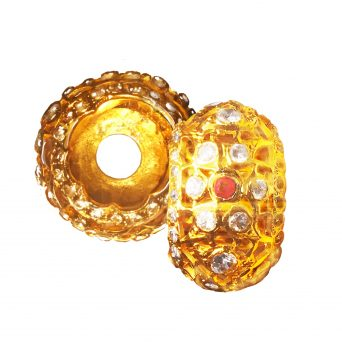 Gold plate Selut for Keris
