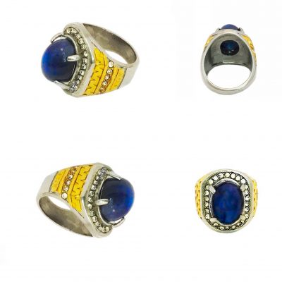 Powerful Laps Lazuli Ring For Protection