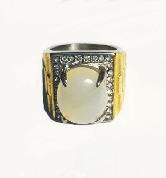 Magic Moonstone Jewel Ring, possessing Spiritual Qualities, ensuring Successful Progress