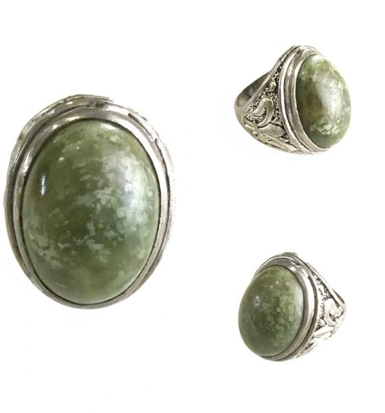 Volcanic Vesuvianite Stone Amulet Ring for taking Intuitive Decisions with Strong Determination