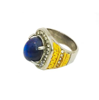 Powerful Lapis Lazuli ring enhancing inner vision and protection