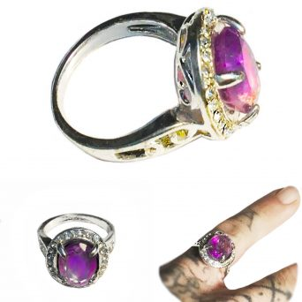 Clear Amethyst gemstone ring for guidance and a clear mind