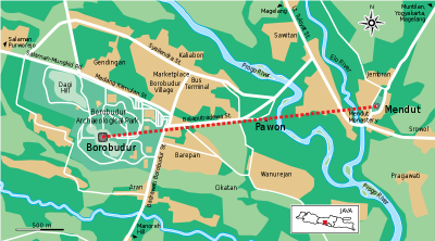 Map of Borobudur Temple