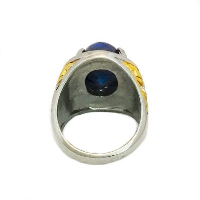 Strong Lapis Lazuli Juwel ring with Cosmic and Aquatic Enery