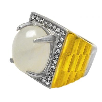 Magic Moonstone Jewel Ring, possessing Spiritual Qualities, ensures succesful progress