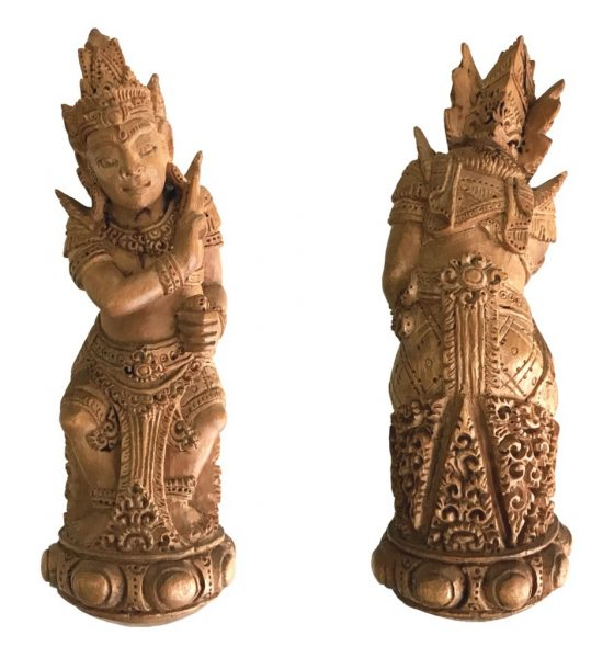 Holy Sandalwood Keris Handle Statuette of Lord Vishnu to subdue Evil and to attract Love
