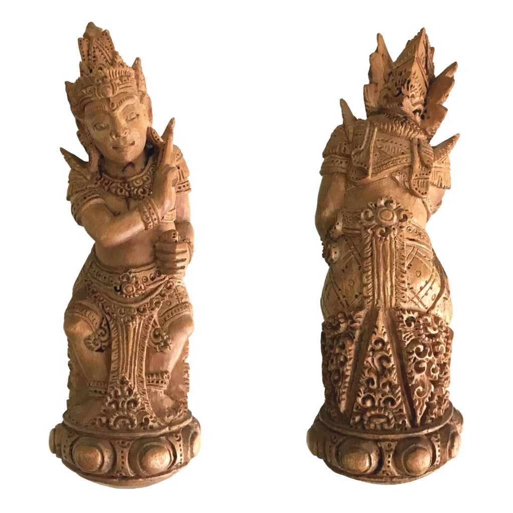 Holy Sandalwood Keris Handle Statuette of Lord Vishnu to subdue Evil Powers and to cleanse Bad Karma