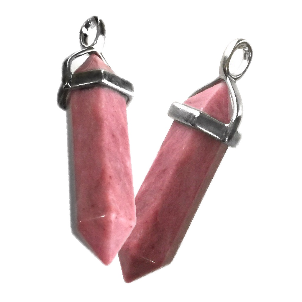 Rhodonite Crystal Pendant