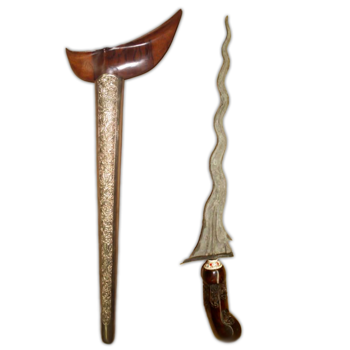 Keris Carita Keprabon Luk 11 with Pamor Pedaringan Kebak made in the Tangguh Pajang Era (16th Century)