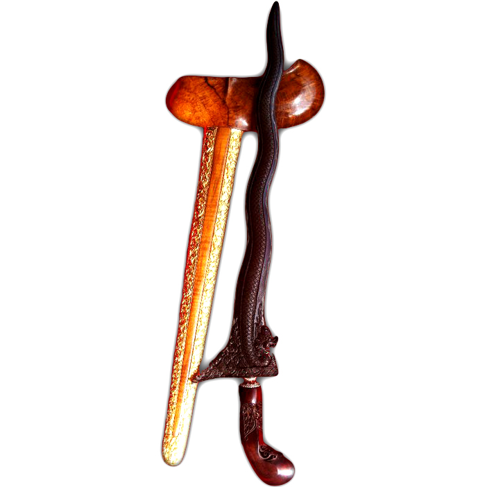 Keris Naga Sapta Luk 7 with Pamor Wengkon for Achieving Success in Life