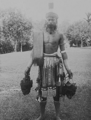 A Dayak headhunter warrior