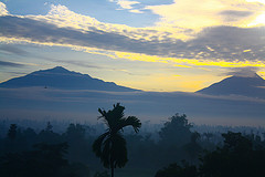 Mount Merapi and Merabu