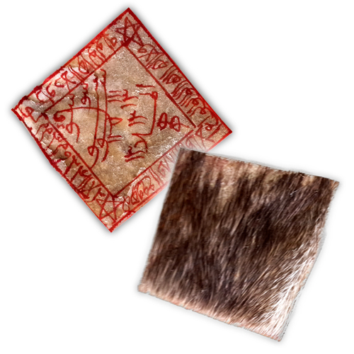 Powerful Javanese Taweez made from Real Deer Skin featuring Charming and Seduction Spells