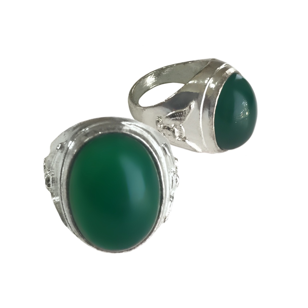 Mystical Chrysoprase Gemstone Ring from Indonesia