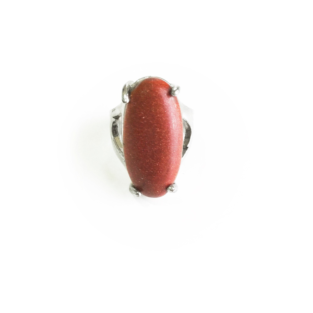 Jasper Gem Amulet Ring