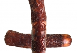 Antique Bhuta Danganan Keris Hilt Figure carved from Deer Antler imbued with Demoniac Qualities