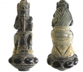 Balinese Hindu Resi Drona Hermit Sage Keris Hilt Figurine carved from Holy Water Buffalo Horn