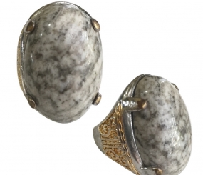Magical White Jasper Ring Talisman to Banish Nightmares and Other Sources of Fear