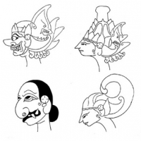 Characteristic Features of Wayang Figures